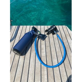 MiniDive Pro+ (0.8 L / 49 cu in) + DIN Filling Station + Harness