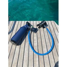 MiniDive Pro (0,5 L / 30 cu in)  + DIN Filling Station + Harness