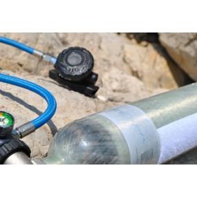 MiniDive Carbon+ (1.1 L / 67 cu in) + MiniComp + Harness