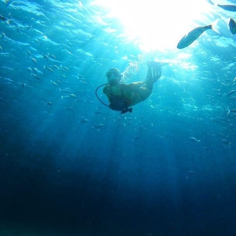 Deep blue 🔵   #blue #sea #diver #scuba #diving #summer #sport #fish #snorkeling #swim #sun #ray #sail