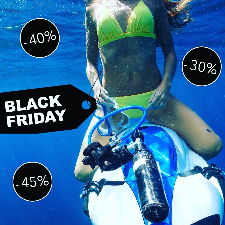 ⚫️ Friday   #blackfriday #discount #underwater #blue #seabob #yellow #stbarth #shopping